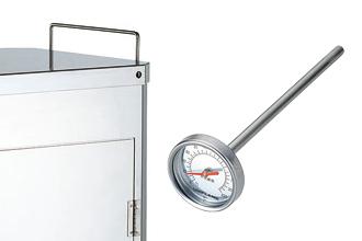 ②温度計用孔