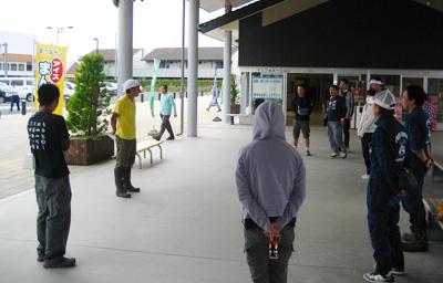 毎週末、道の駅「南相馬」に集合し、活動先へ向かいます。